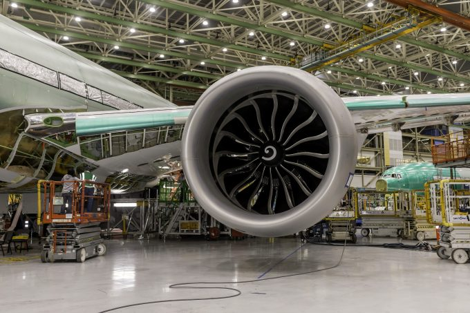 the first ge9x engines find a home on 777x the air current. Black Bedroom Furniture Sets. Home Design Ideas