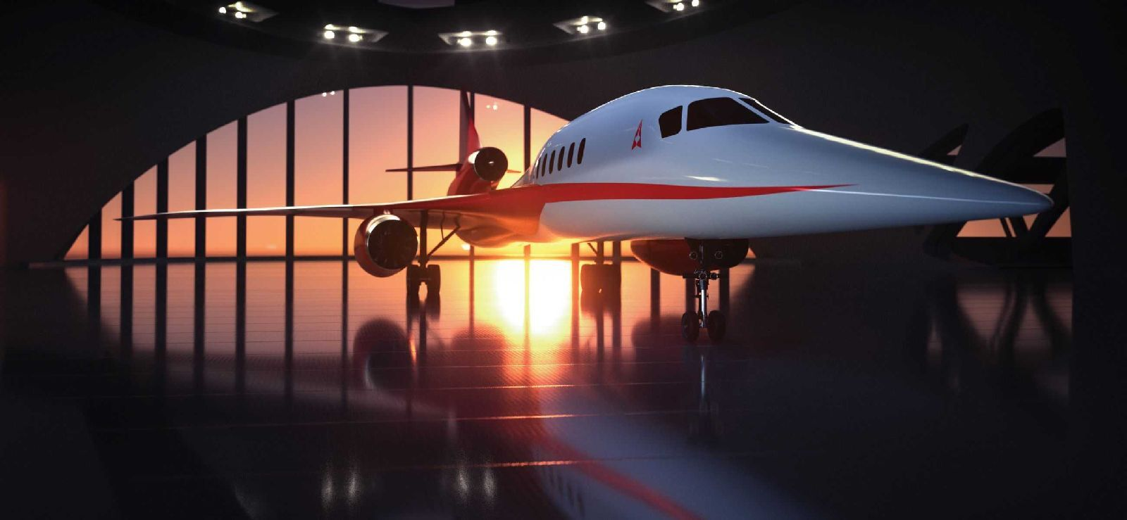 A company rendering of the Aerion AS2 business jet.
