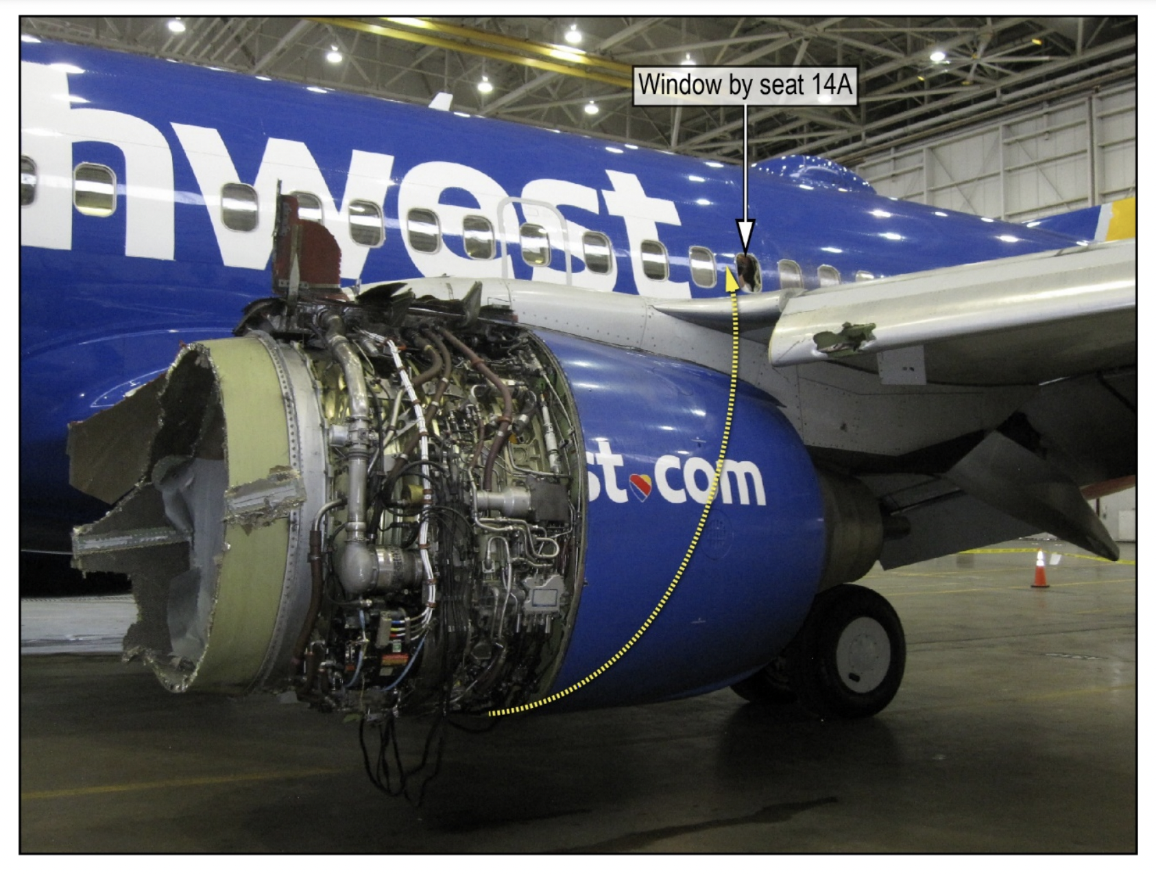 The NTSB's final report on Southwest 1380 detailed how the CFM56's engine fan blades and surrounding nacelle came apart.